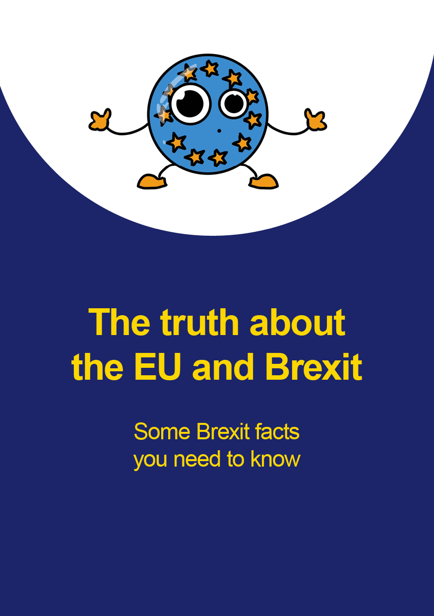 Front page cover of Brexit Mythbuster booklet - linked to digital magazine